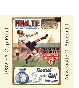 1932 FA Cup Final Programme (Glass Coaster)
