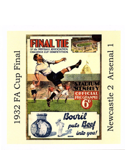 1932 FA Cup Final Newcastle v Arsenal (Greetings Card)