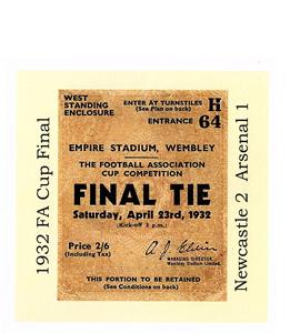 1932 FA Cup Final Newcastle v Arsenal (Greetings Card)
