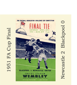 1951 FA Cup Final Programme (Glass Coaster)