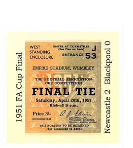 1951 FA Cup Final Newcastle v Blackpool (Greetings