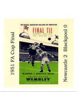 1951 FA Cup Final Newcastle v Blackpool (Greetings Card)