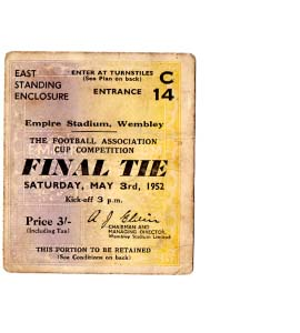 1952 FA Cup Final Newcastle United v Arsenal (Ticket)