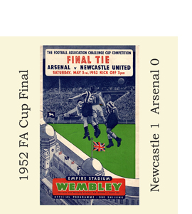 1952 FA Cup Final Programme (Glass Coaster)