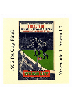 1952 FA Cup Final Newcastle v Arsenal (Greetings Card)