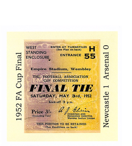 1952 FA Cup Newcastle v Arsenal (Greetings Card)