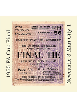 1955 FA Cup Final Ticket (Glass Coaster)
