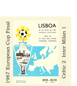 1967 European Cup Final Programme (Glass Coaster)