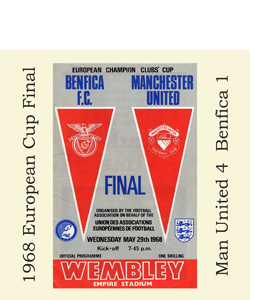 1968 European Cup Final Programme (Greetings Card)