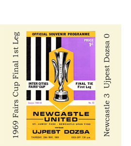 1969 Fairs Cup Final 1st Leg Programme (Glass Coaster)