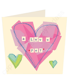 A Luv u Pet Pink Geordie Card