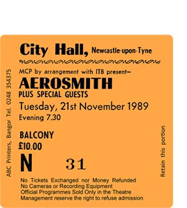 Aerosmith City Hall Ticket (Coaster)