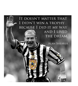 Alan Shearer Quote (Greeting Card)
