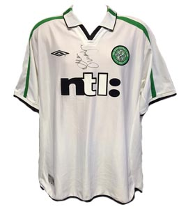 Alan Thompson Celtic 2001/02 Away Shirt (Signed)
