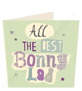 All The Best Bonny Lad - Geordie Card