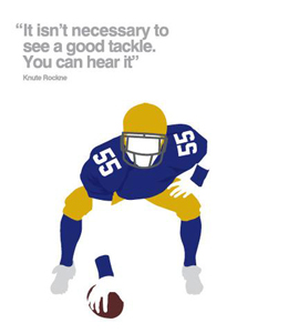American Football (Greetings Card)