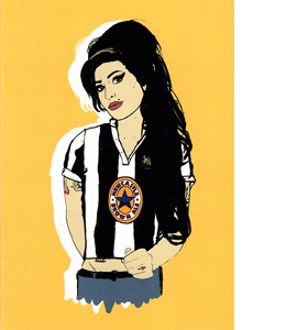 Amy Winehouse Newcastle (Greetings Card)