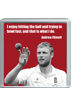 Andrew 'Freddie' Flintoff Cricket Legend (Coaster)