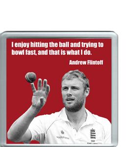 Andrew 'Freddie' Flintoff Cricket Legend (Coaster)