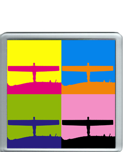 Angel Of The North Pop Art (Coaster)