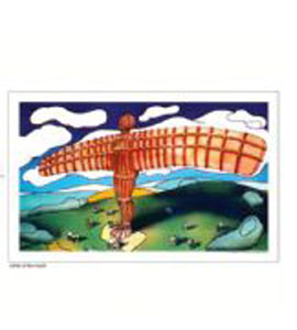 Angel of the North, Gateshead by John Coatsworth. (Tea Towel)
