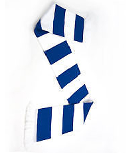 Bar Scarf Blue & White