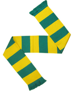 Bar Scarf Green & Yellow