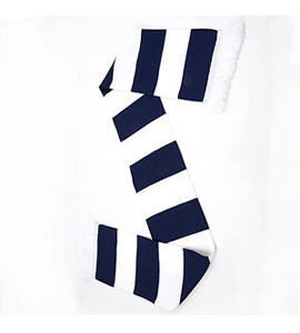 Bar Scarf Navy & White