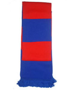 Bar Scarf Red & Blue