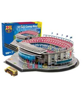 Barcelona 3D Football Stadium Puzzle