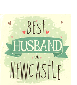Best Husband in Newcastle (Greetings Card)