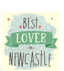 Best Lover in Newcastle (Greetings Card)