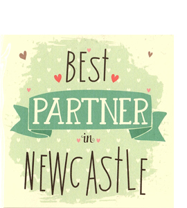Best Partner in Newcastle (Greetings Card)