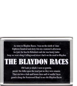 Blaydon Races Geordie Anthem (Fridge Magnet)