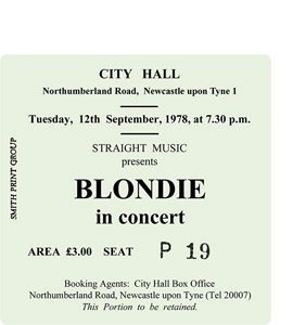 Blondie City Hall Ticket (Coaster)