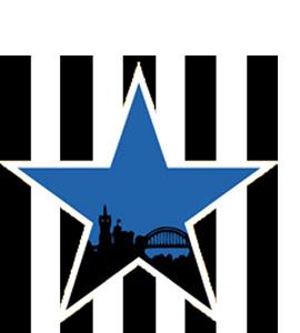 Blue Star (Glass Coaster)