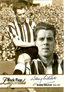 Bobby Mitchell Newcastle United Legends (Postcard)