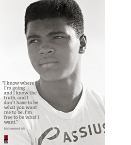 Cassius Clay Reflecting (Greeting Card)