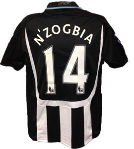 Charles N'Zogbia Newcastle United Shirt 2008/09 (Match-Worn)