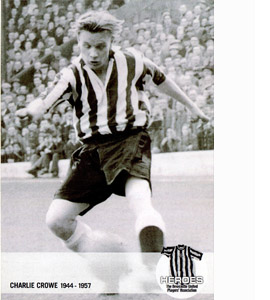 Charlie Crowe Newcastle United Heroes (Postcard)