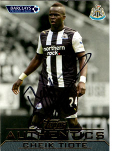 Cheik Tiote Newcastle United Topps Trade Card (Signed)