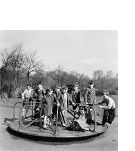 Children In Leazes Park, April 1957 (Greeting Card)