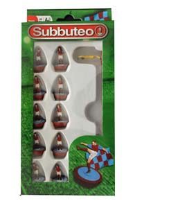 Claret & Blue Subbuteo Team