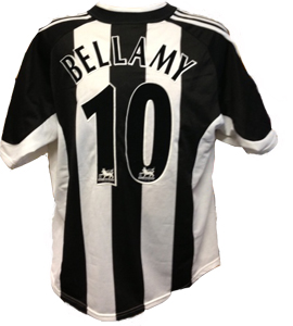 Craig Bellamy Newcastle United Shirt 2002/03 (Match-Worn)
