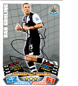 Dan Gosling Newcastle United Match Attax Trade Card (Signed)
