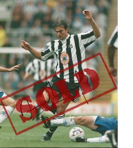 David Ginola Newcastle Photo (Signed)