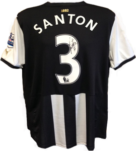 Davide Santon Newcastle United Shirt 2011/12 (Match-Worn)