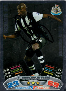 Demba Ba Newcastle United Match Attax Trade Card (Signed)