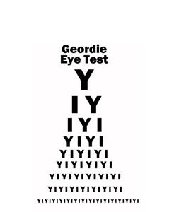 Geordie Eye Test (Glass Coaster)