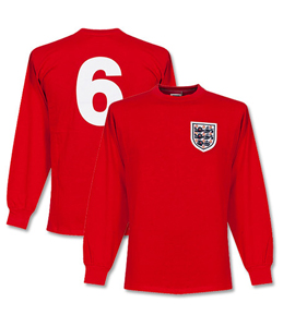 England 1966 World Cup Final No6 shirt